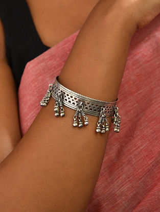 Tribal Silver Bangle