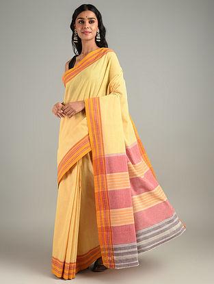 Yellow Handwoven Hubli Cotton Saree