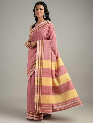 Pink Handwoven Hubli Cotton Saree