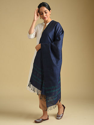 Blue Handwoven Tangaliya Cotton Dupatta