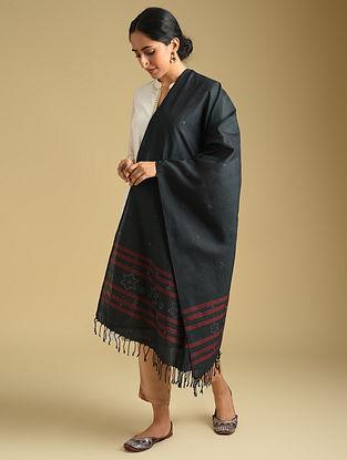 Black Handwoven Tangaliya Cotton Dupatta