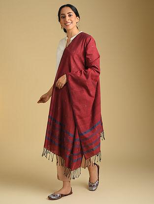Red Handwoven Tangaliya Cotton Dupatta
