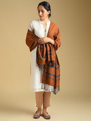 Brown Handwoven Tangaliya Cotton Dupatta