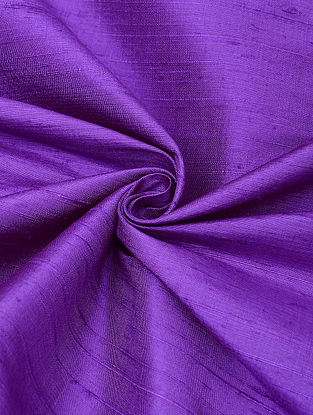 Purple Handloom Raw Silk Fabric