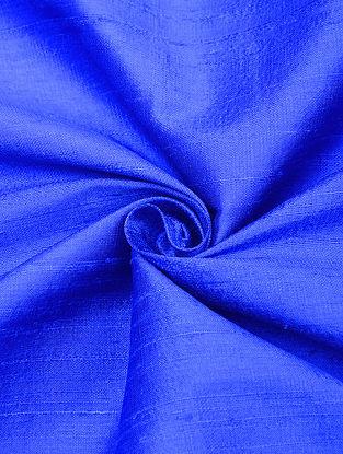 Blue Handloom Raw Silk Fabric