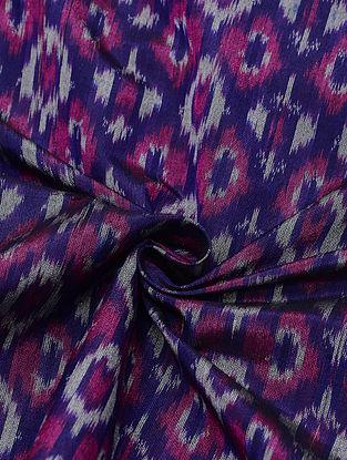 Purple Handloom Cotton Silk Ikat Fabric