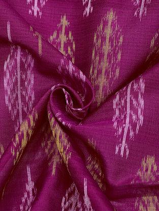 Pink Handloom Cotton Silk Ikat Fabric