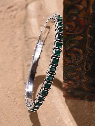 Green Silver Bangle