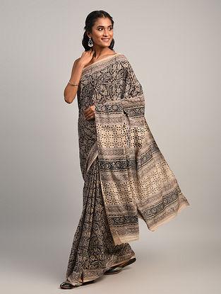 Black Kalamkari Cotton Saree