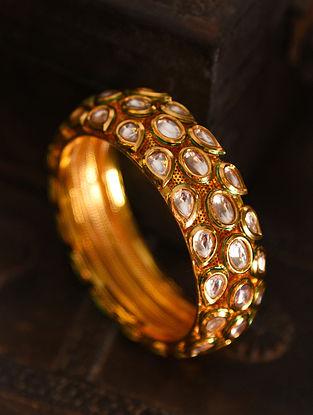 Gold Tone kundan Bangle