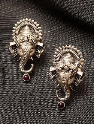 Temple Silver Earrings