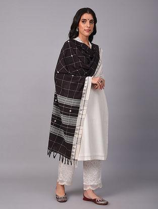 Black Handwoven  Koraput Cotton Dupatta