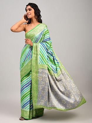 Multicolour Handwoven Benarasi Chiffon Saree