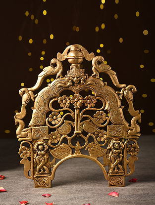 Antique Brass Handcrafted Gold Prabhavali (L-12in, W-10in)