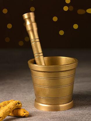 Antique Brass Handcrafted Mortar Pestle