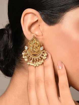 Gold Tone Temple Earrings