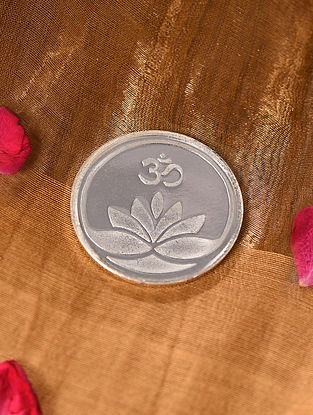 Lotus With Om  Silver Coin (10 Gms)