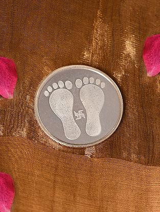 Laxmi Charan With Satya  Silver Coin (10 Gms)