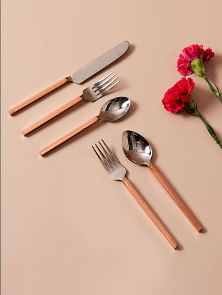 Gold Handmade Stainless Steel Cutlery Set (Set of 5)