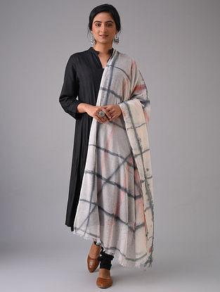 Ivory-Black Tie-Dyed Cotton Dupatta