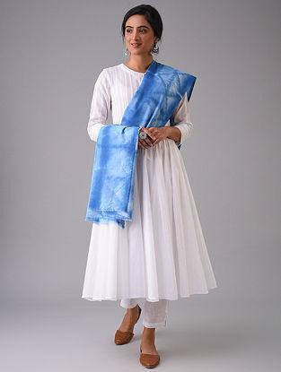 Blue Tie-Dyed Cotton Dupatta