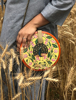 Multicolored Handcrafted Wooden Clutch