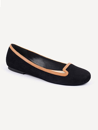 Black Tan Handcrafted Suede Leather Shoes