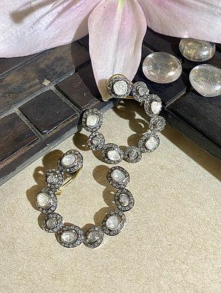 Polki Silver Hoop Earrings