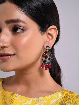 Multicolored Navratan Beaded Earrings