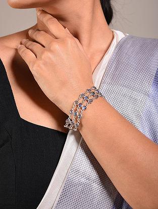 Grey Handcrafted Silver Bracelet
