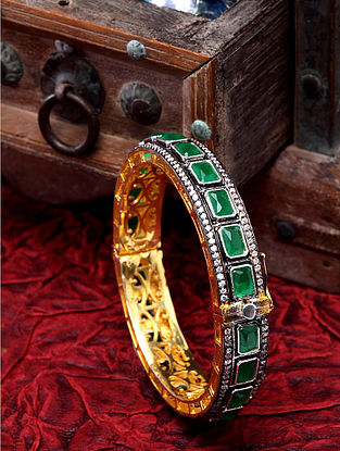 Green Dual Tone Handcrafted Bangle