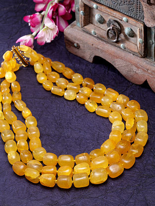 Mustard Beaded Handcrafted Necklace