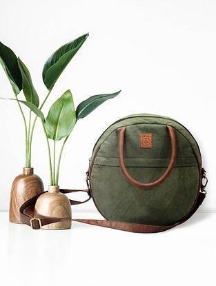 Olive Green Handcrafted Canvas Sling Bag