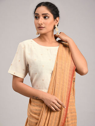 Off White Chanderi Jacquard Blouse