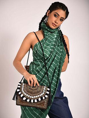 Black Handcrafted Jute Boho Sling Bag