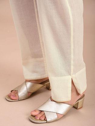 Cream Cotton Pants