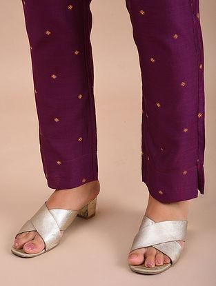 Magenta Chanderi Jacquard Pants