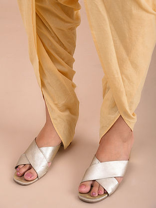 Beige Cotton Dhoti Pants