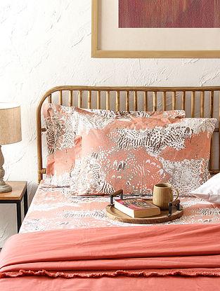 Mashak Pink Handcrafted Cotton Bedsheet Set