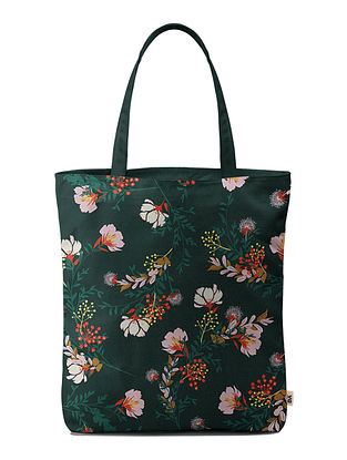 Multicolored Handcrafted Canvas Tote Bag