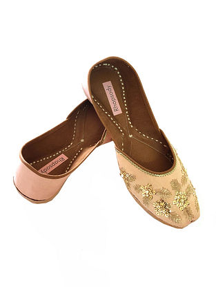Peach Handcrafted Genuine Leather Juttis