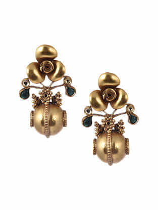 Gold Tone Silver Earrings