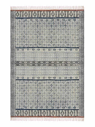 Blue Cotton Rug (72in x 48in)