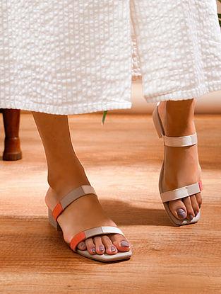 Peach Nude Handcrafted Genuine Leather Block Heels