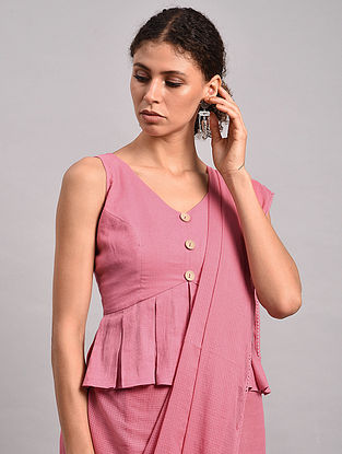 Pink Cotton Moss Blouse