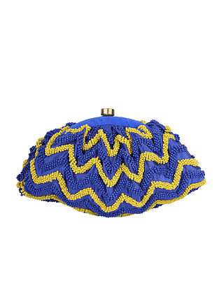 Blue Yellow Handcrafted Clutch