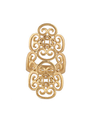 Gold Plated Adjustable Ring