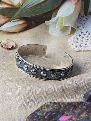 Tribal Silver Adjustable Cuff