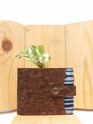 Indigo Handcrafted Dabu Printed Vegan Leather Wallet for Men