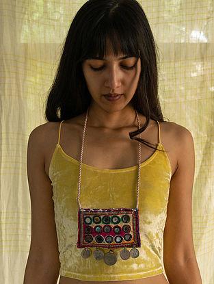 Multicolour Silver Tone Handcrafted Thread Necklace